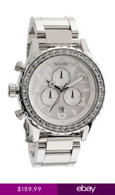 69d83c9a807 New Authentic Nixon Watch 42-20 Chrono Silver Crystal A037-710 A037710