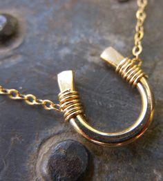 Rose Gold Horseshoe Necklace | Jewelry Necklaces | Natasha Grasso | Scoutmob Shoppe | Product Detail