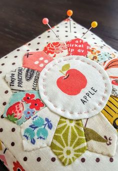 Tiny Dresden Pincushion by Heidi Staples from Westwood Acres Pattern