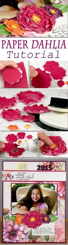 Torn Paper Flowers Tutorial - Club Scrap