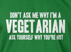 Vegetarian Vegan Green Organic Food Tshirt T-Shirt Tee Shirt Mens Womens Ladies Youth Kids Geek Funny