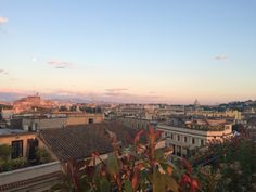 Watching the sunset from a rooftop bar in Rome is a must. Read my guide for inspiration: https://treasuredtravelsblog.wordpress.com/2016/06/27/three-days-in-rome/ #rome #sunset #travel #blog #travelguide