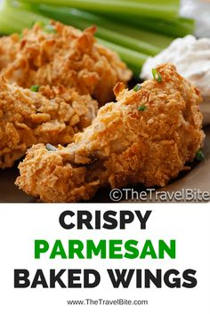 A healthier alternative to fried wings, and quite easy to make! Parmesan Baked Wings Recipe
