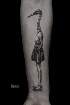 Based in St Petersburg, Russia, Ilya Brezinski is a tattoo artist and illustrator creating monochrome pieces of art, both in skin and paper.