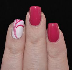 Marble Accent nail and China Glaze Heart of the matter on the other nails.