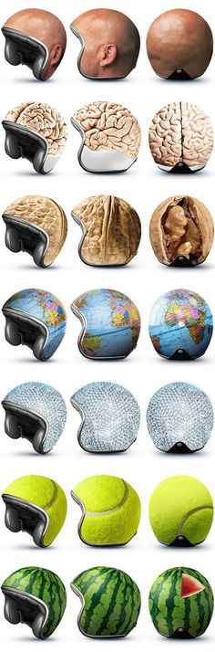 "Bike Helmets by The Russian advertising company ""Good"""