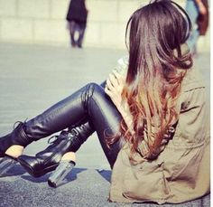Love the shoes and pleather!