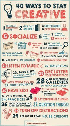 40 maneiras de se manter criativo