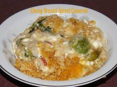 Cheesy Brussel Sprout Casserole Sandy Gray