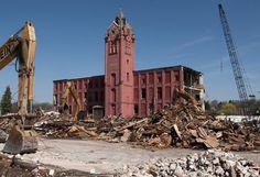 Belding clock tower. Demolished 05/2013 Belding Mi