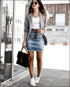 42 Wonderful Winter Outfits Ideas For This Season - outfits - Casual Out. - 42 Wonderful Winter Outfits Ideas For This Season – outfits – Casual Outfits Skirt - Mode Outfits, Stylish Outfits, Fashion Outfits, Fashion Ideas, Skirt Fashion, Womens Fashion, Party Outfits, Fashion 2018, Denim Fashion