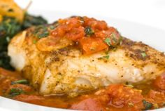 Crock Pot Halibut with Tomato Lime Tapenade delivers a flavor that makes you think a chef prepared it for you!  www.getcrocked.com