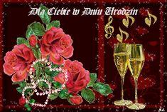 Urodziny i imieniny: Gify urodzinowe Happy Birthday, Plants, Painting, Rose, Humor, Beautiful, Flowers, Happy Brithday, Pink