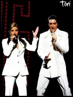 """photoshop: Elvis with Lisa Marie during """"If I Could Dream"""". Love it!!!"""