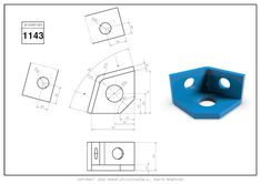 3D CAD EXERCISES 1143 - STUDYCADCAM Cad Drawing, Drawing Practice, Autocad, Geometry, Exercises, 3d, Drawings, Exercise Routines, Drawing Exercises