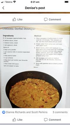 Curried Sausages, Sausage Ingredients, Curry Recipes, Bacon, Oven, Ethnic Recipes, Food, Essen, Ovens