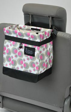 Cute little trash bag for your car. With a leak-proof base to keep juice boxes and coffee from spilling in you car. Only $18. AND it comes in black.