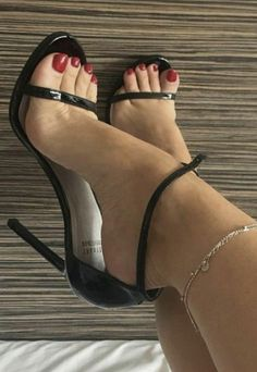 Black Strappy High Heels, Sexy Legs And Heels, Black High Heels, Womens High Heels, Pantyhose Heels, Stockings Heels, Ankle Strap Heels, Ankle Straps, Camouflage
