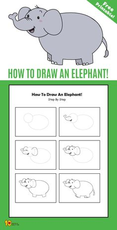 Drawings Easy How To Draw an Elephant step by step for kids - Related Posts Sheep Paper Greeting Card Face or Vase Optical Illusion Frog Paper Crown 5 Dinosaur Crafts – Best Dinosaur Activities. Paper Sandals Heart in Hand Card Draw Animals For Kids, Elephants For Kids, Animal Masks For Kids, Elephant Drawing For Kids, How To Draw Steps, Learn To Draw, Jungle Drawing, Dinosaur Activities, Dinosaur Crafts