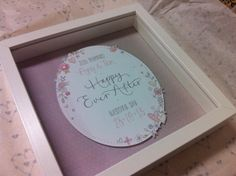 Personalised 3D WeddingDesign in Box Frame by NikkiWhistonInks, £25.00
