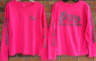 Steel Cowgirl reflective hot pink ladies motorcycle shirt