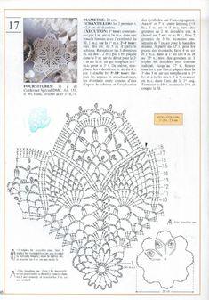 Photo from album Mailles Nomero special hors-serie Le crochet on Yandex. Thread Crochet, Crochet Doilies, Doily Patterns, Crochet Patterns, Pineapple Crochet, Crochet Magazine, Crochet Diagram, Handicraft, Crochet Projects