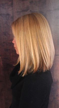 Gorgeous colour and cut. Love this look - great if you are trying to grow out your hair but still want some style
