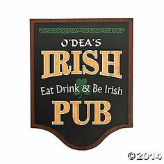 Personalized Irish Pub Sign