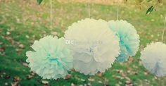 buon affare ! spedizione gratuita sacco di 15cm carta velina pom poms festa di nozze fiore palle decorazioni iall'ingrosso