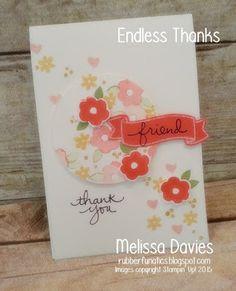 Endless Thanks by Melissa Davies @rubberfunatics #rubberfunatics #stampinup