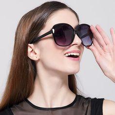 70a6c28dec0 IVE 2016 Luxury Women Sunglasses Fashion Round Ladies Vintage Retro Brand  Designer Oversized Female Sport Sun Glasses Tide 9550-in Sunglasses from  Women s ...