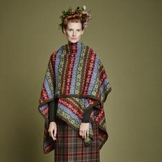 PINE PONCHO WRAP from Autumn Collection Five by Marie Wallin | English Yarns http://englishyarns.co.uk/rowan-marie-wallin-autumn.html