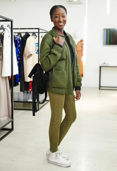 Go head-to-toe khaki to fully embrace AW15's New Girl Army trend.