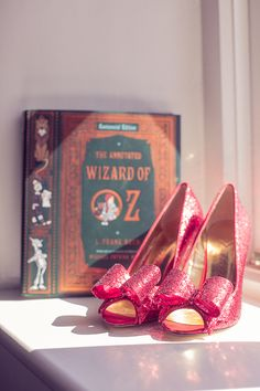 These will be my wedding shoes!!!Red glitter heels from a super cool Wizard of Oz inspired #wedding | onefabday.com