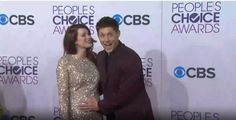 Jensen and Danneel red carpet People's choice awards 2013. Jensen haha