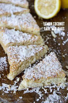 Lemon Coconut Cake Mix Bars (www.ChefBrandy.com)