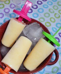Peach Popsicles - Using soy yogurt to make vegan