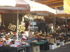 Largest Flea market in Italy -  Porta Portese Market. Open Sundays