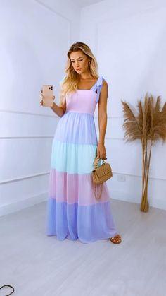 Cute Summer Dresses, Simple Dresses, Elegant Dresses, Cute Dresses, Beautiful Dresses, Vintage Dresses, Scarf Dress, Dress Up, Look Fashion
