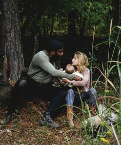 Tyreese, Judith and the crazy little bitch Lizzie TWD