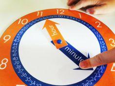 free clock printable for kids Preschool Learning Activities, Fun Learning, Learning Tools, Clock Printable, Free Printable, Learning Clock, Clock For Kids, Kids Clocks, Clock Craft