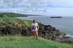 Lenny is standing here enjoying the view at Point Binurong Catanduanes, Philippines.
