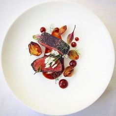 Venison Black Sesame Ash Blood Orange Shallot & Wild Garlic - by @chefmartinmerz Want your work to get featured as well? Simply tag your best plating pictures with #armyofchefs ------------------------ #foodart #foodpic #foodphoto #foodphotography #hipsterfoodofficial #foodphotographer #goodlife #chef #delicious #instafood #instagourmet #gourmet #theartofplating #gastronomy #foodporn #foodism #foodgasm #plating #f52grams #vsco_food #photooftheday #picsoftheday #dishoftheday #hautecuisines