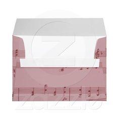 Music Notes envelopes