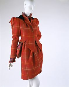 More than any other contemporary designer, Vivienne Westwood has been scrupulous in her study of historical forms of dress. Her brilliance, however, has not been in the literal rendering of period artifacts but in her application of contemporary techniques to resolve their form-making and an almost abandoned revivification of their sexual content