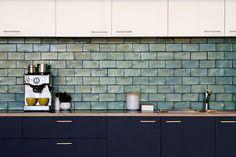 Perini Tiles ceramic subway tiles - vattacan - Splashback for laundry? Ceramic Subway Tile, Subway Tiles, Stone Look Tile, Bathroom Showrooms, Tile Showroom, Feature Tiles, Splashback, Living Room Kitchen, Tile Design