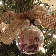 Christmas ornament, hand made with burlap