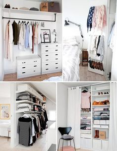 Small linen closets on pinterest linen closet for Closet para espacios pequenos