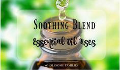 What does one do with Soothing Blend you ask? Think sports creme of some kind. Like BenGay…Mmmm can you smell it now? Well. I will tell you. The Soothing Blend …