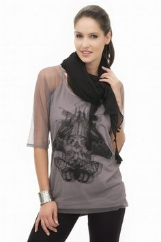 mesh, artwork, oxxo, look, t-shirt